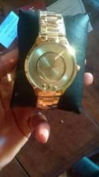 Relógio femenino folheado a ouro