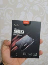 SSD Netac 120gb Novo/Lacrado Entrego/Passo cartão