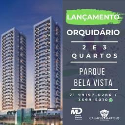 Orquidário Parque Bela Vista, 2/4 com 1 suíte, nascente - Lançamento