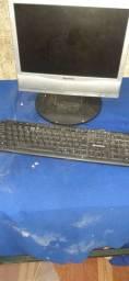 Computador, impressora e roteador