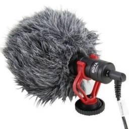 Microfone boya by-mm1 condensador cardiole preto