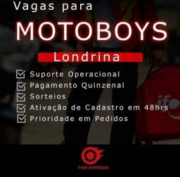 Título do anúncio: Vaga Motoboy Fire express ,