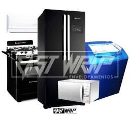 Envelopamento, Adesivagem Geladeira, Fogão, Microondas, Máquina de Lavar, Freezer