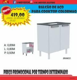 Título do anúncio: BALCÃO DE AÇO E COOKTOP SAFANELLI PROMOÇÃO