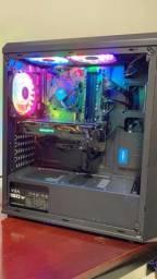 Gabinete Gamer i5-9400f, 16gb ddr4, RX 580, SSD, HD