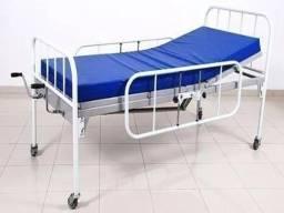 Cama Hospitalar 2 Manivelas Seminova + Colchão Hospitalar Seminovo