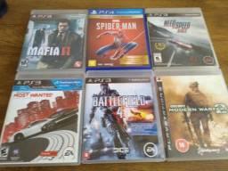 Jogos PS3 e jogo de PS4(leia)