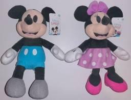 Pelúcias Disney Importadas Originais - Mickey e Minnie
