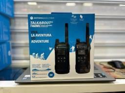 Rádio Comunicador Motorola T465mc Até 56 Km - Preto / Cinza