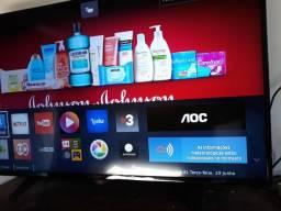 TV AOC 43 LED Full HD SMART COMPLETA zerada com NF