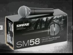 Microfone profissional com fio shure sm58 sm58lc