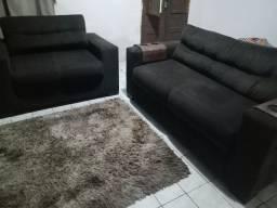 Lindo sofá de camurça