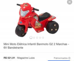 Mini Moto Elétrica infantil