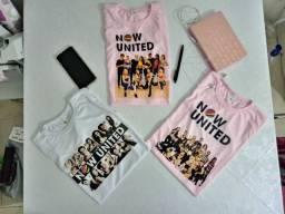 Camisa e caneca BTS e NOW UNITED