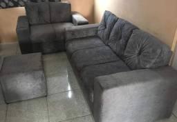 Lindo sofá 2 e 3 lugares novo