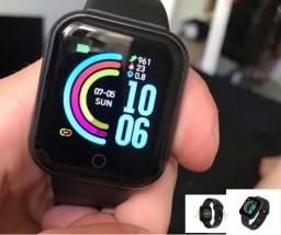 Relógio Inteligente Smartwatch D20 Bluetooth Preto Batimento
