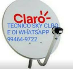 Tecnico antenas Claro Sky Oi instalação manutenção e apontamento preço fixo em Manaus