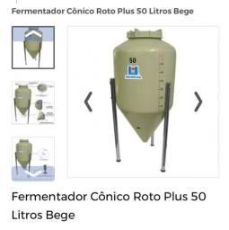 Fermentador Cônico 50 Litros Novo Caixa