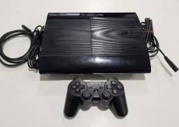 PS3 Super Slim 250 GB Completo com 30 jogos