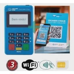 Título do anúncio: Maquininha de Cartão Crédito e Débito Point Chip Mercado Pago Máquina NFC<br>