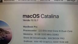 Título do anúncio: Macbook  pro i5 16 gb