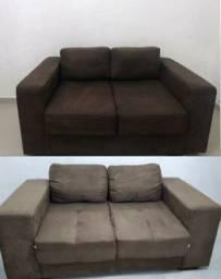 2 sofás de 2 lugares