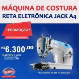 Máquina de costura Reta Eletrônica Jack A4 branca e azul-celeste ? Entrega grátis