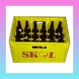 Bar, cerveja, engradados, cascos