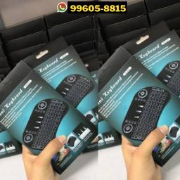 Mini Teclado Wireless Colorido Touch Para Celular Pc Android Tv Smart