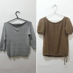 Kit 2 blusas tricô