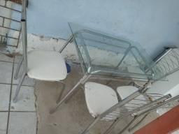 Título do anúncio: Mesa de vidro com cadeiras