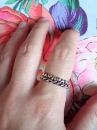 Título do anúncio: Pandora conjunto de dois anéis prata 925 originais e com certificado aro 58/20 Brasil