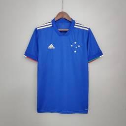 Camisa Cruzeiro Centenário Azul Tamanho GG