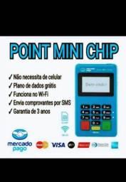 Maquininhas Point Mini Chip..Chip de dados E Wifi Toda Completa÷