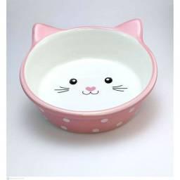 Comedouro/bebedouro para Gato de porcelana
