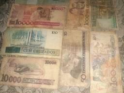 Cedulas de dinheiro antigas para colecionadores