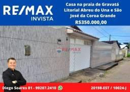 Título do anúncio: Casa com 3 dormitórios à venda, 116 m² por R$ 350.000 - Praia de Gravatá.