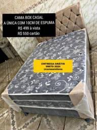 CAMA BOX CASAL por 499 ENTREGA GRÁTIS