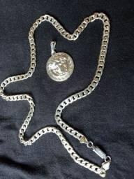 Cordão medusa prata