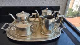 Conjunto de chá e café prata Fracalanza modelo croise.