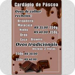 CARDÁPIO DE PÁSCOA