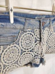 Short jeans de renda P