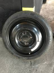 Roda com pneu para estepe
