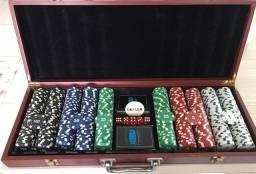 Maleta de Poker - 500pcs + 5 dados