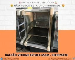 Balcão vitrine estufa 65CM - Seminovo - Com garantia | Matheus