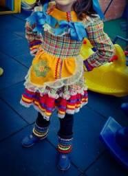 Vestido infantil caipira