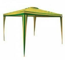 Tenda gazebo 3x3 amarela e verde