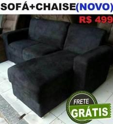 Sofa pop 2 lugares mais chaise avista $499