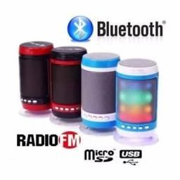Nova caixinha bluetooth USB rádio LED ws-1806 R$49,99