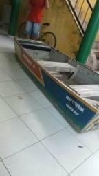 Barco em alumínio 3 metros com motor de popa - 2014